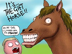 look a gift horse in the mouth LELB Society