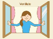 Ventilate - English Flashcard for Ventilate - LELB Society