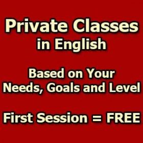 Private Classes in English - First Session = FREE