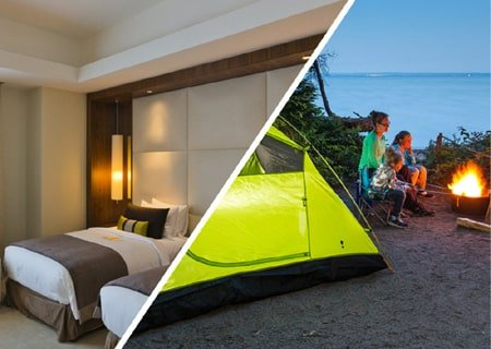 Writing Practice on Camping vs. Hotel Booking