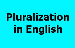 Pluralization in English - Easy Learning English - ELE