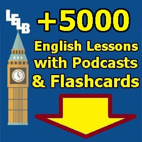 English Lessons with Podcasts and Flashcards in categories