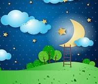 آموزش فارسی با شعر ماه آسمون