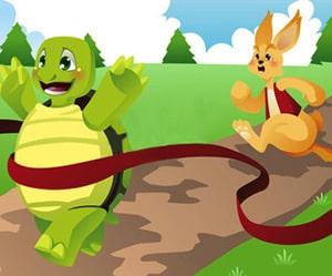 داستان خرگوش و لاک پشت برای آموزش آنلاین زبان فارسی به کودکان در LELB Society