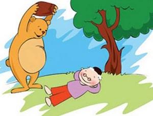 داستان دوستی خاله خرسه برای آموزش آنلاین فارسی به کودکان با پادکست در LELB Society