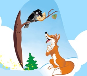 Learn Farsi story raven fox cheese at LELB Society