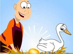 Learn Persian online with the story the Goose and the golden egg in our online Farsi classes at LELB Society