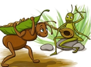 The Ants and the Grasshopper from Aesop's Fables at LELB Society to practice reading, vocabulary and listening especially for children