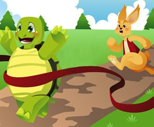 The Hare and the tortoise as a great short story to practice English with podcast and flashcards at LELB Society