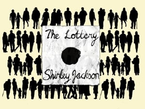 The Lottery by Shirley Jackson as a great American short story to practice reading comprehension, vocabulary with flashcards and listening with a podcast at LELB Society