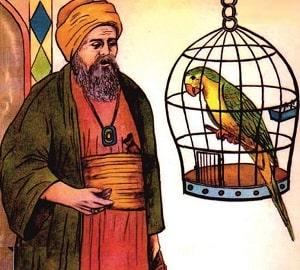 learn Persian Story Parrot and merchant
