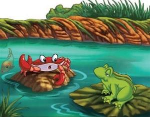 Learn Persian online frog crab Kelileh & Demneh at LELB Society-min
