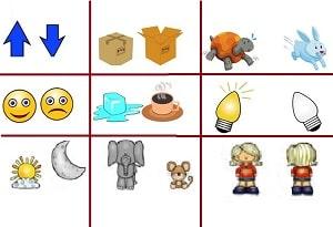 learning antonyms in Farsi for children