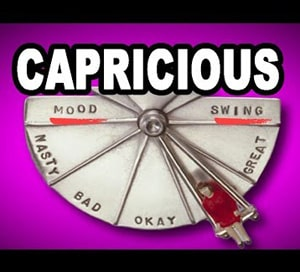 Capricious 1100 words you need to know week 42 day 4 at LELB Society for GRE, TOEFL & IELTS