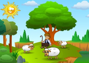 The Shepherd Boy at LELB Society with podcast and new words to learn English from Aesop's Fables