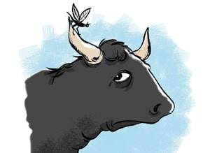 The Gnat and the Bull to learn English with fairy tales at LELB Society with podcast and new vocabulary