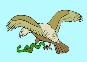 The Serpent and the Eagle - English Fairy tale to practice English with podcast and vocabulary at LELB Society
