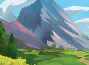 Mountain in Labor English Fairy tale at LELB Society with podcast and flashcards